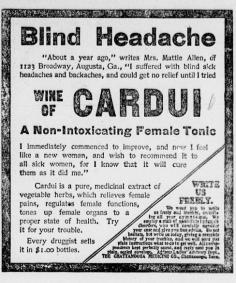 Wine of Cardui Female Tonic - 1906 - Jasper News