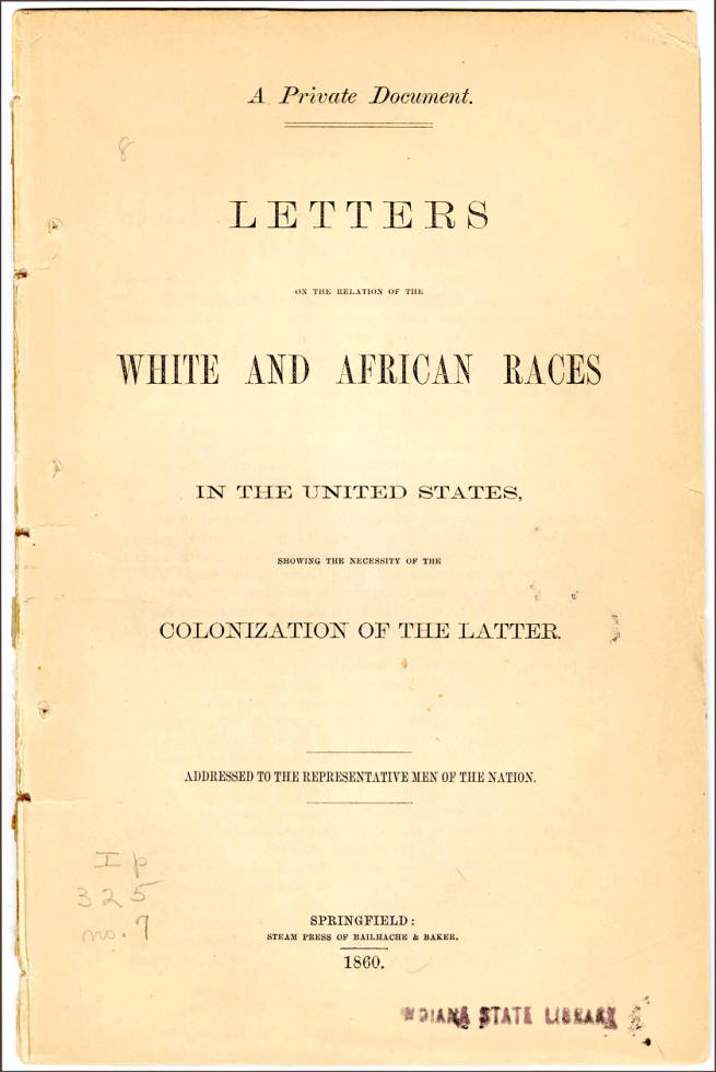 a private doc letters on white and african